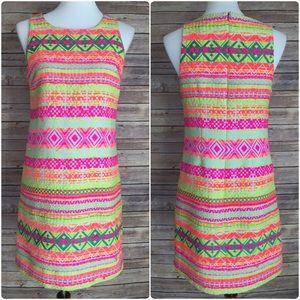 Dresses & Skirts - Britt Ryan Neon Tribal Sheath Dress